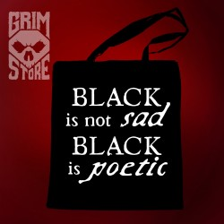 Black is not sad  - eco bag