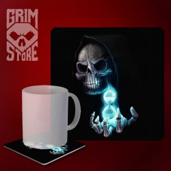 Death with the hourglass - mug coaster