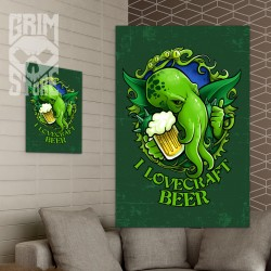 I lovecraft beer - plakat