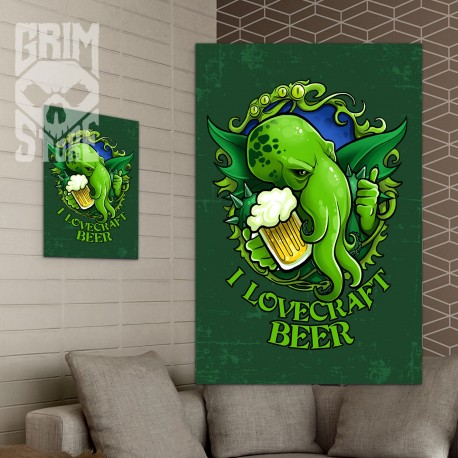 I lovecraft beer - poster