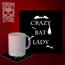 Crazy bat lady - mug coaster