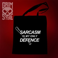 Sarcasm is my only defence - eco bag