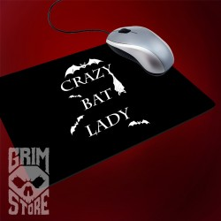 Crazy bat lady - mousepad