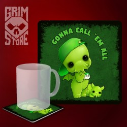 Cthulhu - Gonna call 'em all - mug coaster