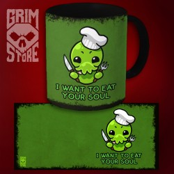 Cthulhu - I want to eat your soul - mug 330 ml
