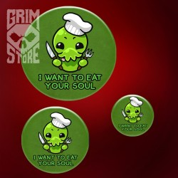 Cthulhu - I want to eat your soul - pin