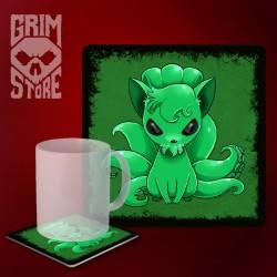 Cthulhu - Vulpix - mug coaster