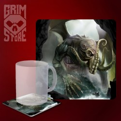 Cthulhu - The Ruler of the Seas - mug coaster