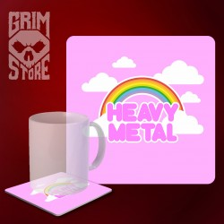 Cute Heavy Metal - mug coaster